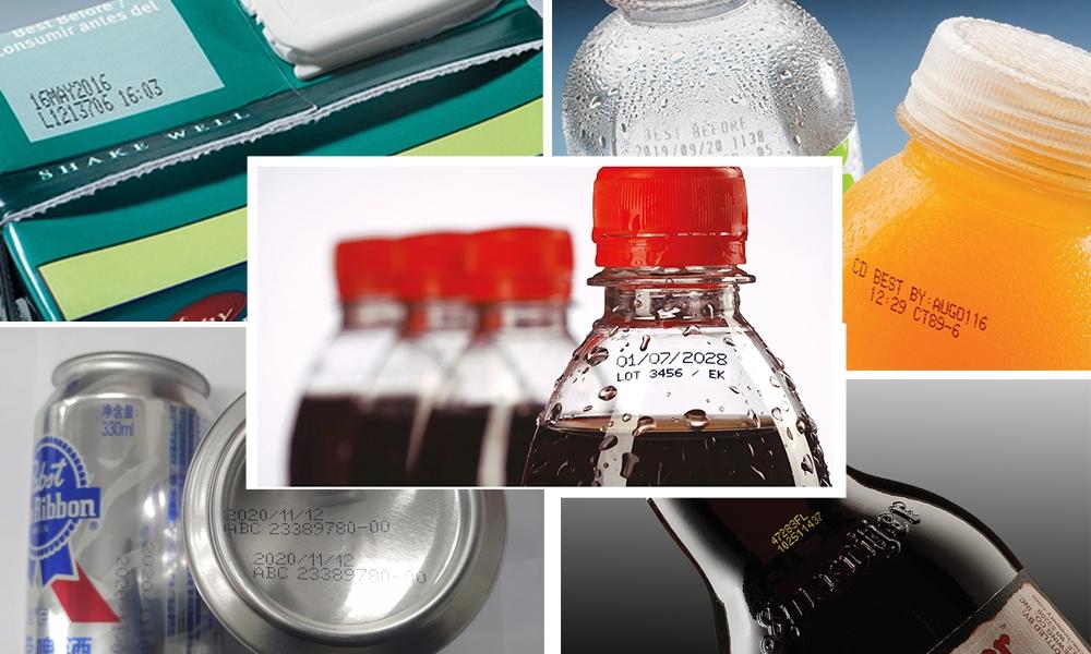 饮品行业生产日期喷码